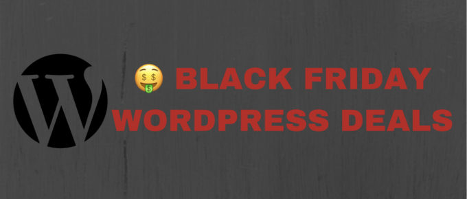 Black Friday cyber Monday wordpress deals