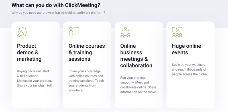 ClickMeeting webinar software