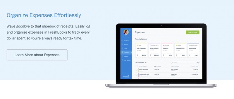 FreshBooks expenses Review