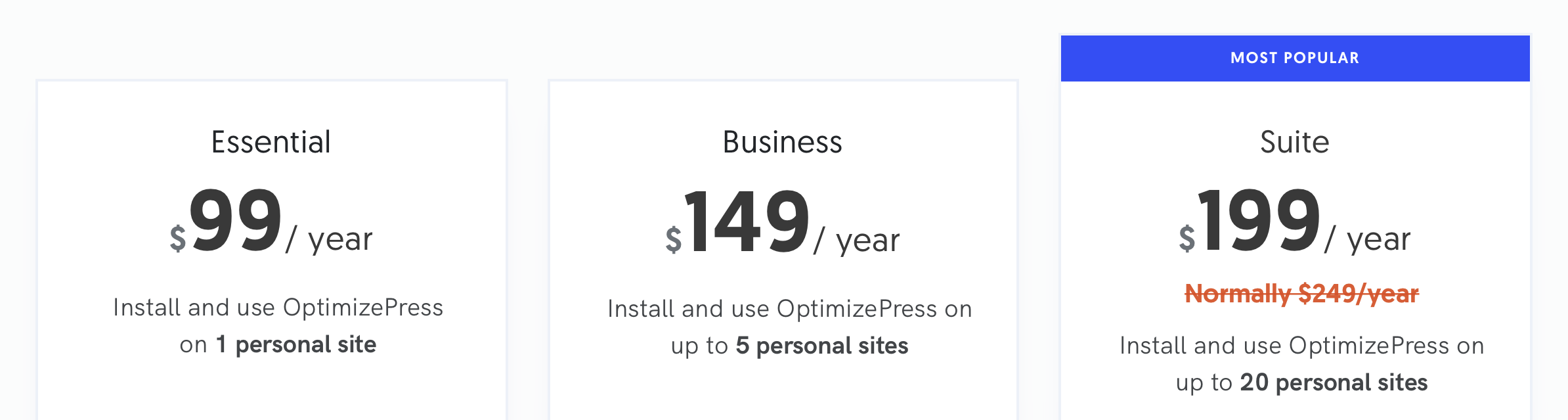 Optimizepress pricing 2021