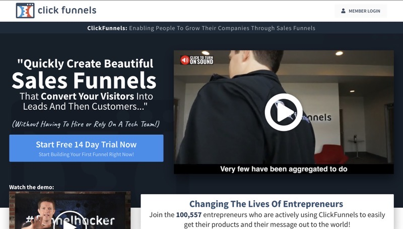 Sales funnel landing page builder 2020