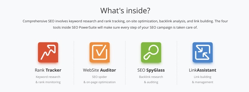 SEO Powersuite features