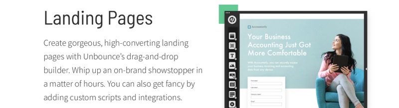 Unbounce landing page builder review 2020
