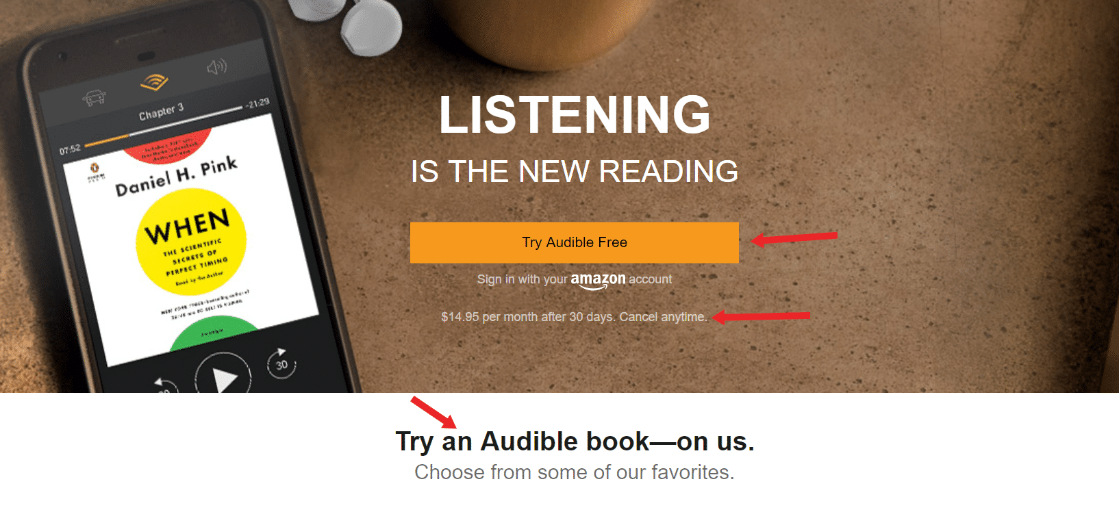 audible 2 free boooks