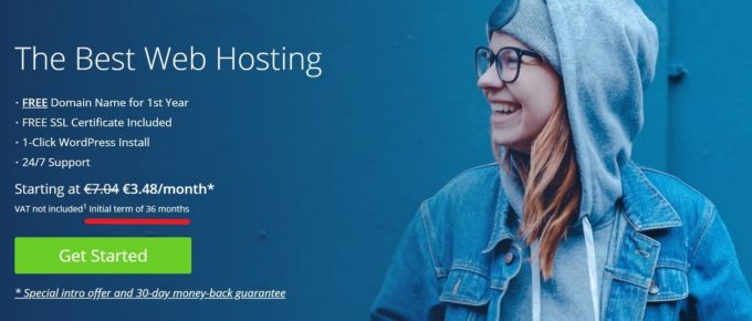 Bluehost pricing 2020