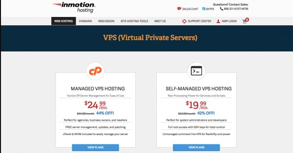 free vps hosting inmotion hosting