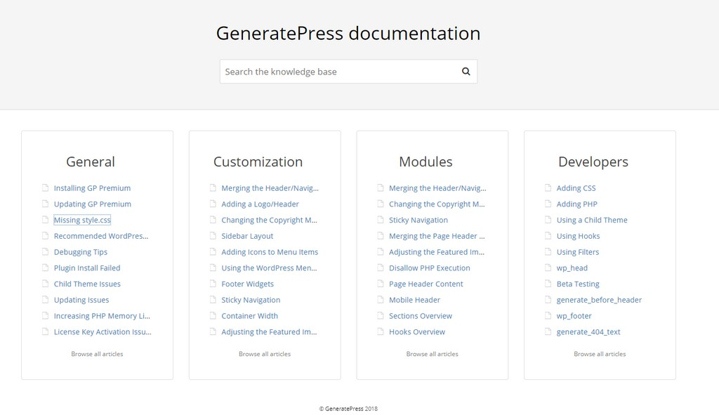 generatepress vs astra generatepress documentation