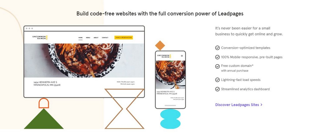 leadpages website builder review