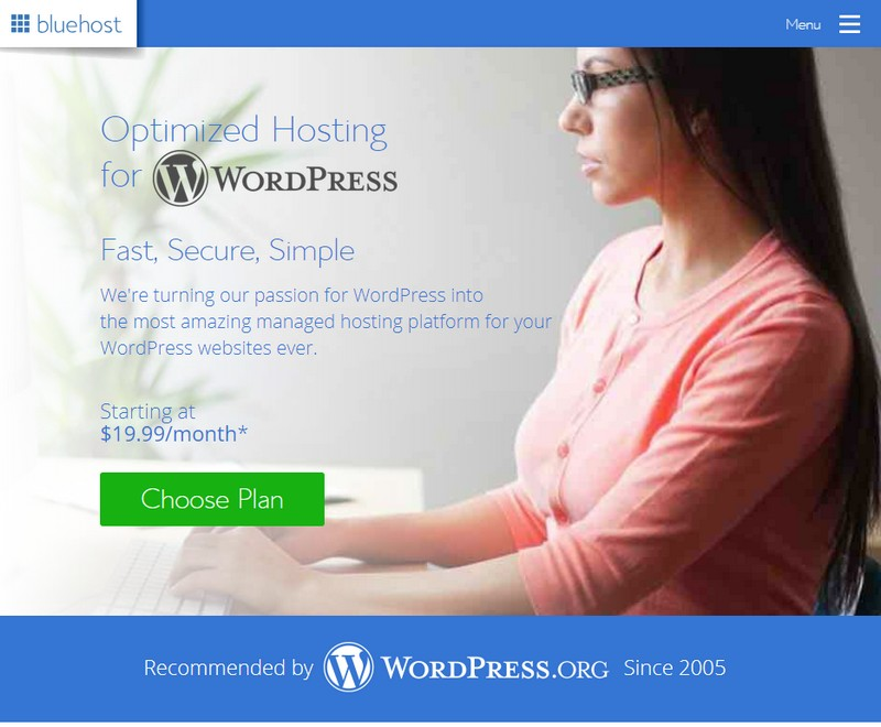 bluehost managed wordpress hosting 2019