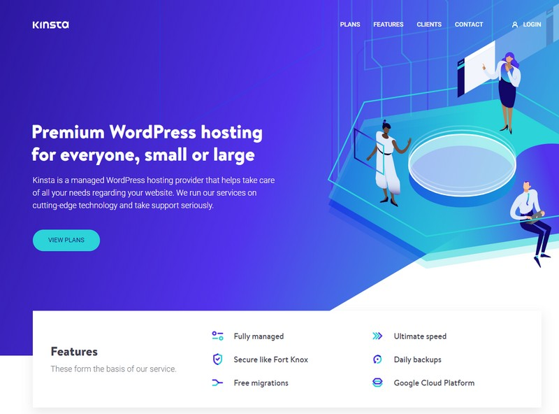 kinsta managed wordpress hosting 2020