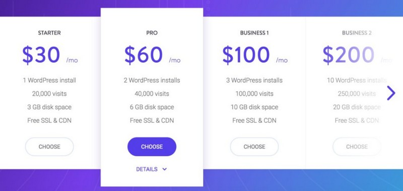 kinsta pricing managed wordpress hosting 2020