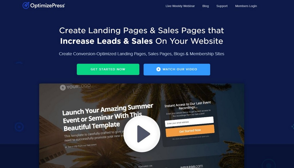 optimizepress sales funnel builder