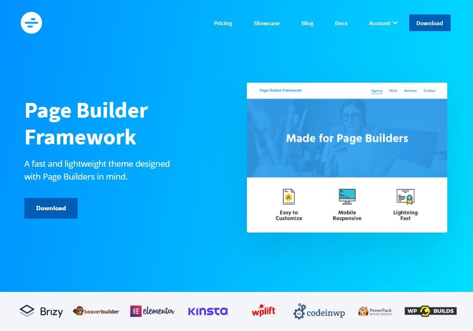 Fastest wordpress theme for page builder