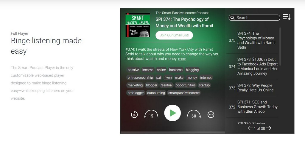smart podcast player review