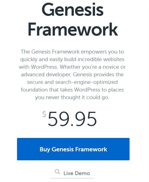 genesis framework review pricing