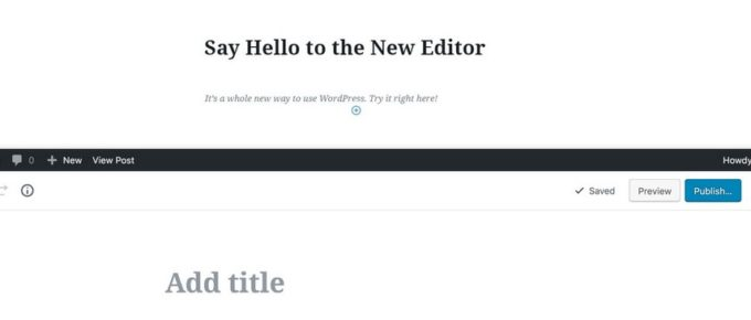 visual editor wordpress gutenberg