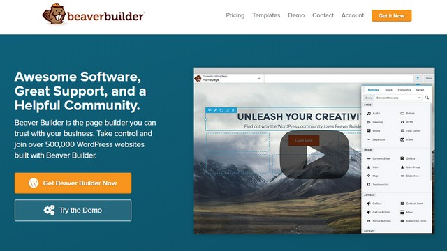 beaver builder drag and drop wordpress theme builder 2019