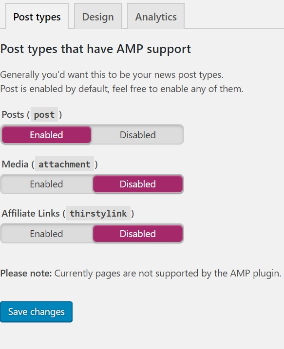 yoast seo wordpress amp settings