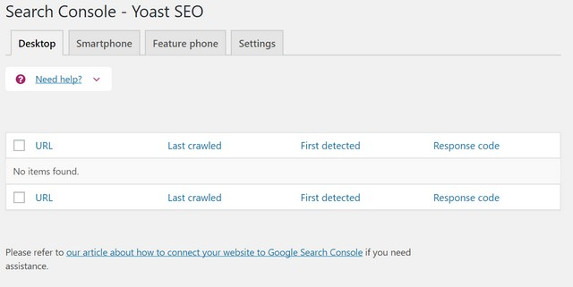 yoast seo wordpress search console settings