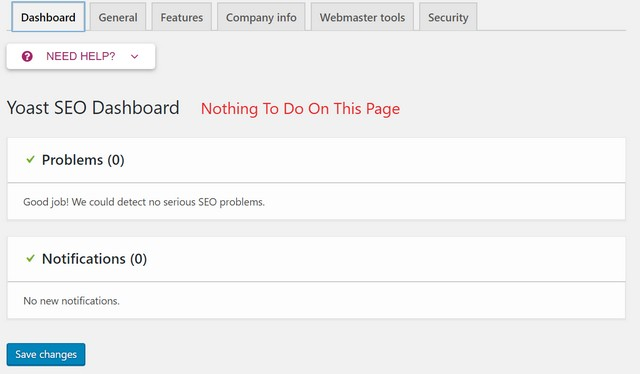 yoast seo settings dashboard settings